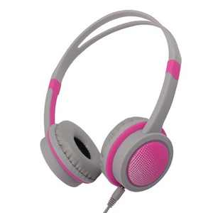 Insten Kids Headphones Wired 3.5mm On-Ear Earphones with 85dB Safe Volume Limited for Boys Girls Children, Pink