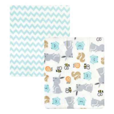 Hudson Baby Infant Silky Plush Blanket, Neutral Bunny, 30x36 inches