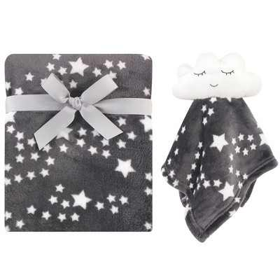 Luvable Friends Baby Plush Blanket and Security Blanket, Night Sky, One Size