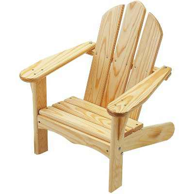 Little Colorado Handcrafted Knotty Pine Wood Kids Classic Adirondack Indoor Outdoor Porch Patio Chair for Children Ages 2 to 7 Years, Unfinished