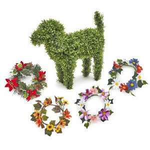 Lakeside Decorative Pet Garden Statue with Interchangeable Collars