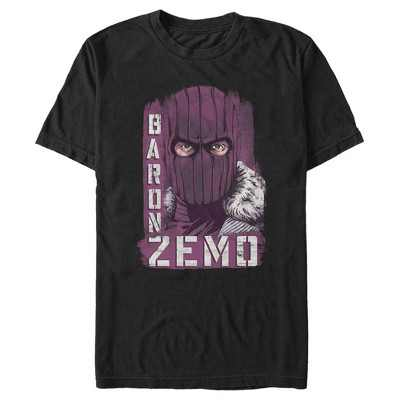 Men's Marvel The Falcon and the Winter Soldier Baron Zemo Close-Up T-Shirt