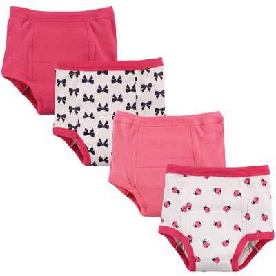 Luvable Friends Baby and Toddler Girl Cotton Training Pants, Ladybug
