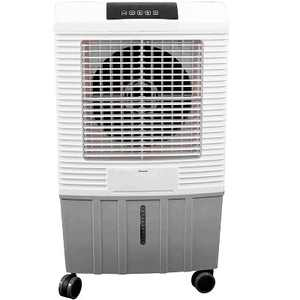 Hessaire MC26A 700 Square Foot Indoor/Outdoor Portable 2,100 CRM 3 Speed 3.7 Gallon Evaporative Cooler Humidifier with Remote Control System, White