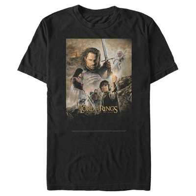 Men's The Lord of the Rings Return of the King Movie Poster T-Shirt