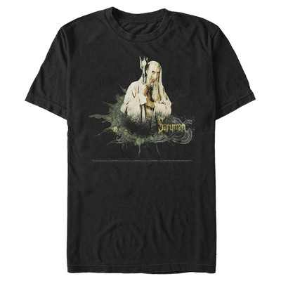 Men's The Lord of the Rings Fellowship of the Ring Saruman Paint Splatter T-Shirt