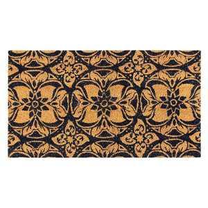 Juvale Talavera Floral Coir Door Mat Welcome Doormat Indoor Outdoor Nonslip Front Rugs 30 x 17