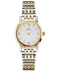Women's Diamond Accent Two-Tone Stainless Steel Bracelet Watch 30mm 98P115
