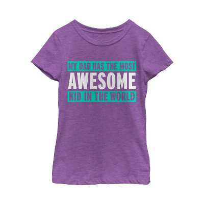 Girl's Lost Gods Father's Day Most Awesome Kid T-Shirt