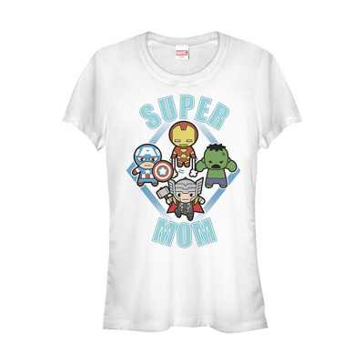 Junior's Marvel Mother's Day Super Mom Kawaii T-Shirt