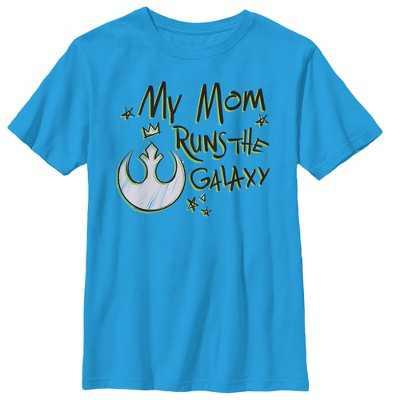 Boy's Star Wars Mother's Day Mom Runs Galaxy T-Shirt