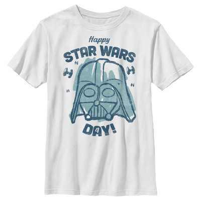 Boy's Star Wars Darth Vader Happy Star Wars Day T-Shirt