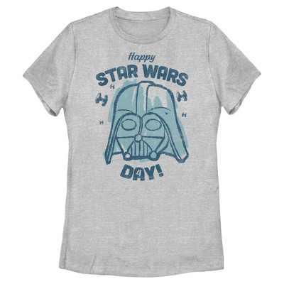 Women's Star Wars Darth Vader Happy Star Wars Day T-Shirt