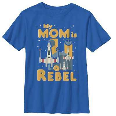 Boy's Star Wars Mother's Day Rebel Mom T-Shirt