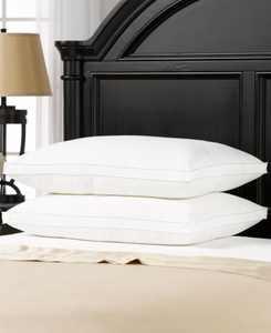 Overstuffed Plush Medium/Firm Density Gel Filled Side/Back Sleeper Pillow, 2 Pack - Standard