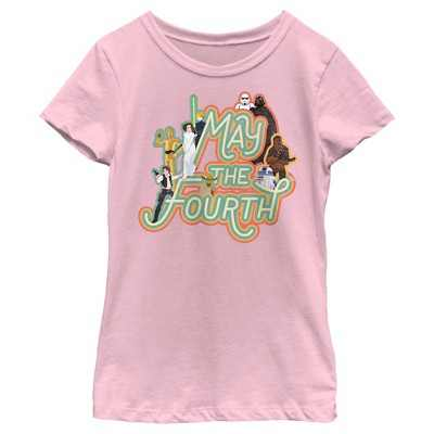 Girl's Star Wars May the Fourth Classic Characters T-Shirt