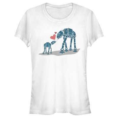 Junior's Star Wars AT-AT Love T-Shirt