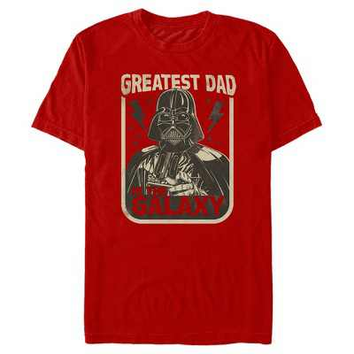 Men's Star Wars Father's Day Darth Vader Greatest Dad in the Galaxy T-Shirt