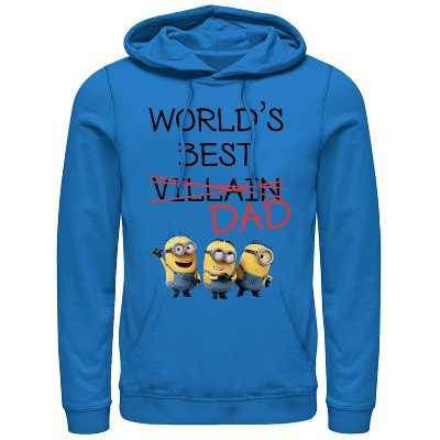Men's Despicable Me Minions World's Best Villain Dad Pull Over Hoodie