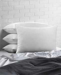 Soft Plush Gel Fiber Filled Allergy Resistant Stomach Sleeper Pillow - Set of Four - King