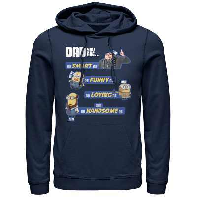 Men's Despicable Me Dad Best Qualities Pull Over Hoodie