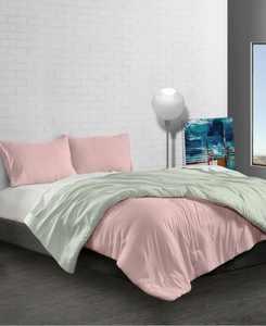 Reversible Brushed Microfiber Plush Down-Alternative Comforter 3 Piece Set - Twin