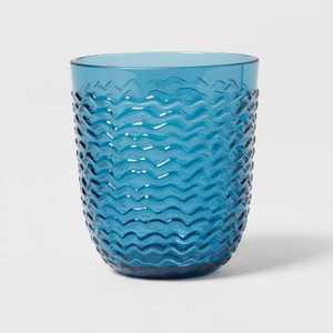 13oz Plastic Wave Texture Short Tumbler - Opalhouse