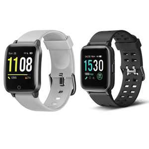 """Letfit Smart Watch, Fitness Tracker with Heart Rate Monitor 1.3"""" Touch Screen, IP68 Waterproof ID205"""