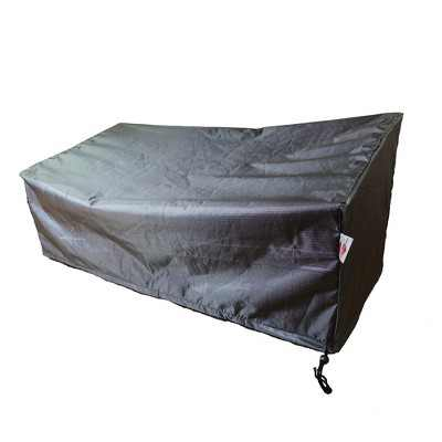 """Shield Gold 2-Layer Polyester Fabric Outdoor Sofa Wide Cover - 86x35x24/36"""" Charcoal Grey"""