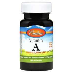Carlson - Vitamin A, 10000 IU (3000 mcg RAE), Immune Support, Vision Health