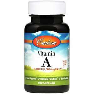 Carlson - Vitamin A, 25000 IU (7500 mcg RAE), Immune Support, Vision Health