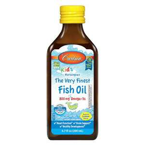 Carlson - Kid's The Very Finest Fish Oil, 800 mg Omega-3s, Norwegian, Wild Caught, Sustainably Sourced, Lemon