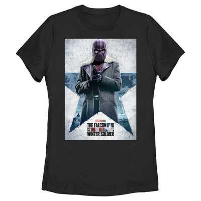 Women's Marvel The Falcon and the Winter Soldier Baron Zemo Poster T-Shirt