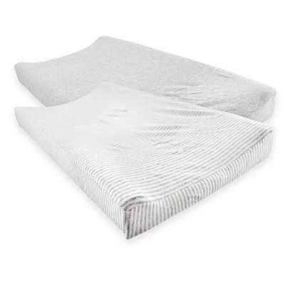 Touched by Nature Baby Organic Cotton Changing Pad Cover, Heather Gray, One Size