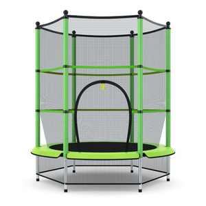 Costway Youth Jumping Round Trampoline 55'' Exercise W/ Safety Pad Enclosure Combo Kids Blue\Gree\Red