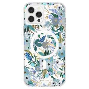 Rifle Paper Co - Case for iPhone 12 Pro Max (5G) - Compatible with MAGSAFE - Garden Party Blue