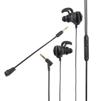 Insten 3.5mm Wired Gaming In-Ear Headset with Microphone - Earbuds & Earphones for Phone Games, PS4, PS5, PC, Xbox & Nintendo Switch, Black