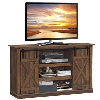 Costway Sliding Barn TV Stand Console Table for TV's Up to 60'' Entertainment Center