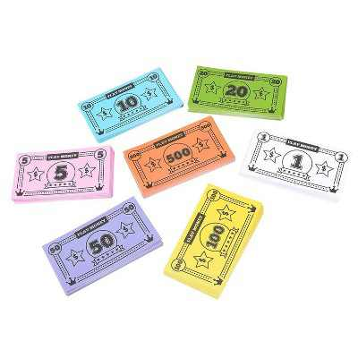 """Blue Panda Play Money for Kids, 455 Pretend Dollar Bills, Educational Toys for Board Game Replacement, 4 x 2.2"""""""