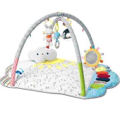 GUND 6056387 Baby Tinkle Crinkle and Friends Arch Activity Gym Sensory Stimulating Soft Plush 8 Piece Set Playmat, Multicolor