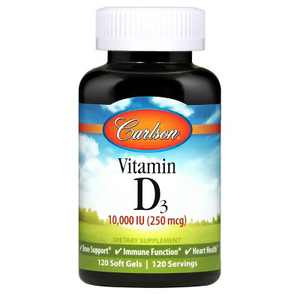 Carlson - Vitamin D3 10000 IU (250 mcg), Cholecalciferol, Immune Support