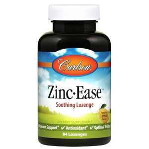 Carlson - Zinc-Ease, Soothing Lozenge, Immune Support, Antioxidant, Lemon