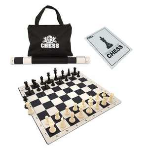 WE Games Best Value Tournament Chess Set - 20 inch Vinyl Chessboard, Staunton Chessmen with 3.75 inch King, Bag and Instruction Manual