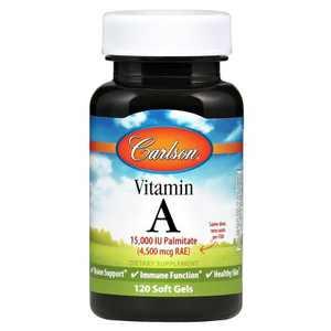 Carlson - Vitamin A, 15000 IU Palmitate (4500 mcg RAE), Vision Health, Immune Function