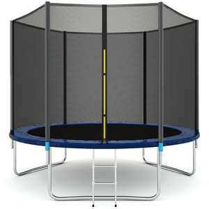 Costway 10 FT Trampoline Combo Bounce Jump Safety Enclosure Net W/Spring Pad Ladder
