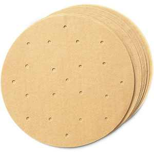 """Juvale 200 Pack Round Air Fryer Liners, Unbleached Perforated Parchment Paper, Brown, 8"""""""