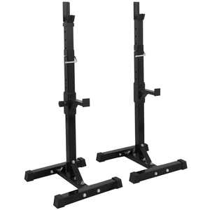 ZenStyle 550 Lbs. Pair of Adjustable 40 In. - 66 In. Rack Sturdy Steel Squat Barbell Free Bench Press Stands Gym/Home