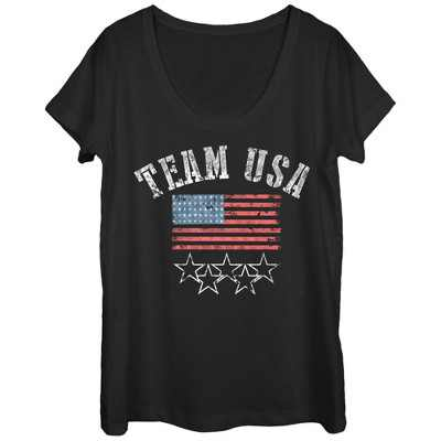 Women's Lost Gods Fourth of July  Go Team USA Scoop Neck