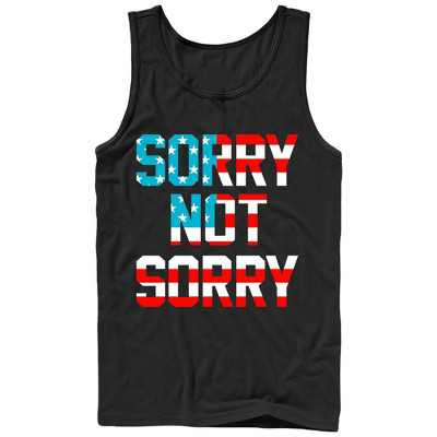 Men's Lost Gods Fourth of July  American Sorry Not Sorry Tank Top
