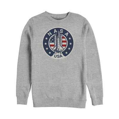Men's NASA Patriotic USA Rocket Logo Sweatshirt